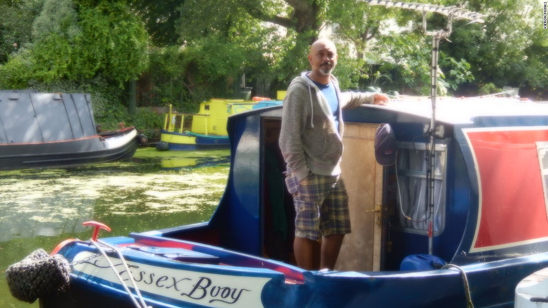 """""""Over the last five years it has gone absolutely crazy,"""" says David Akinsanya, who has spent 17 years on the canals, but rarely stays in London due to overcrowding."""