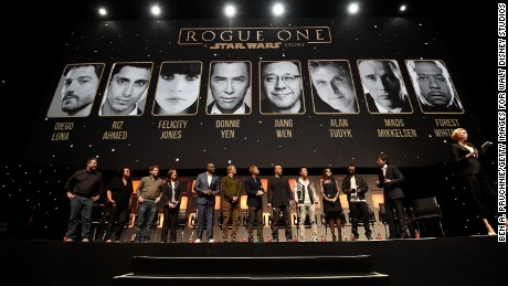 """The """"Rogue One"""" panel at the recent """"Star Wars Celebration Europe"""" in London."""