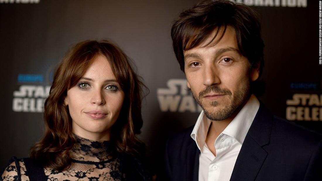 "Jones and Diego Luna attend the ""Star Wars"" Celebration."