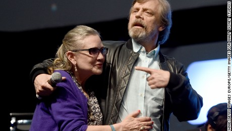 """""""Star Wars"""" actors Mark Hamill and Carrie Fisher."""