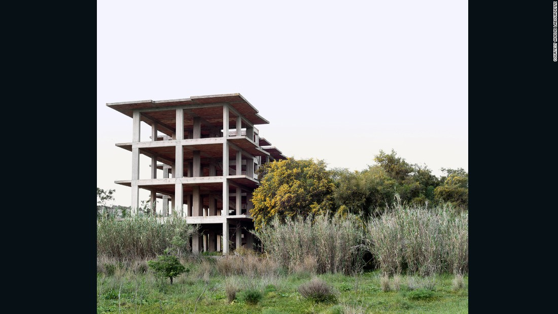 """For her """"Empire of Dust"""" series, French photographer Amélie Labourdette's spent a month traveling across Italy documenting the country's abandoned building sites."""