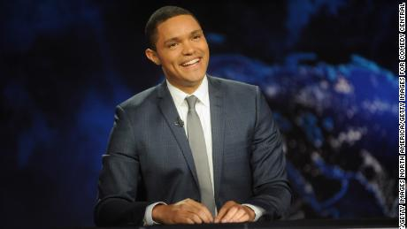 "NEW YORK, NY - SEPTEMBER 28:  Trevor Noah hosts Comedy Central's ""The Daily Show with Trevor Noah"" premiere on September 28, 2015 in New York City.  (Photo by Brad Barket/Getty Images for Comedy Central)"