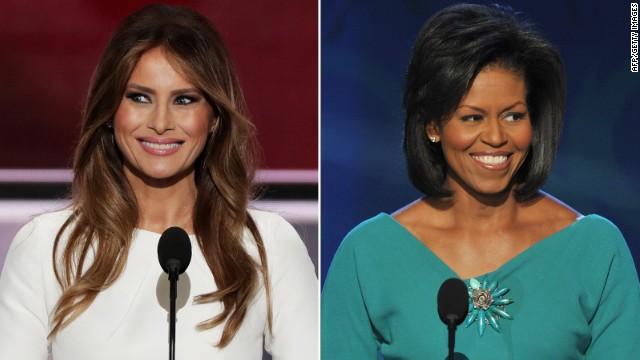 Campaign denies Melania Trump's speech plagiarizes parts of Michelle Obama's
