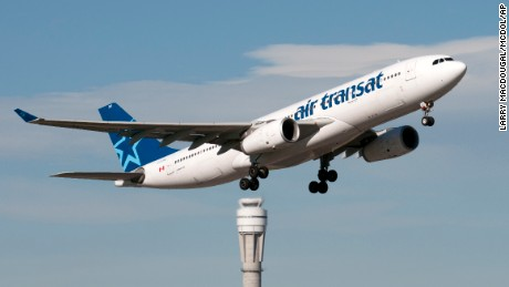 An Airbus A330 jetliner belonging Canadian airline Air Transat, takes off at Calgary, Alberta in 2013.