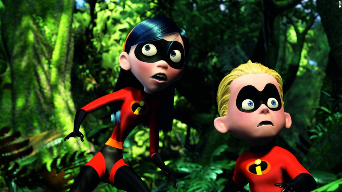 """Violet and Dashiell """"Dash"""" Parr in """"The Incredibles,"""" in which Violet has a superpower that allows her to turn instantly invisible."""