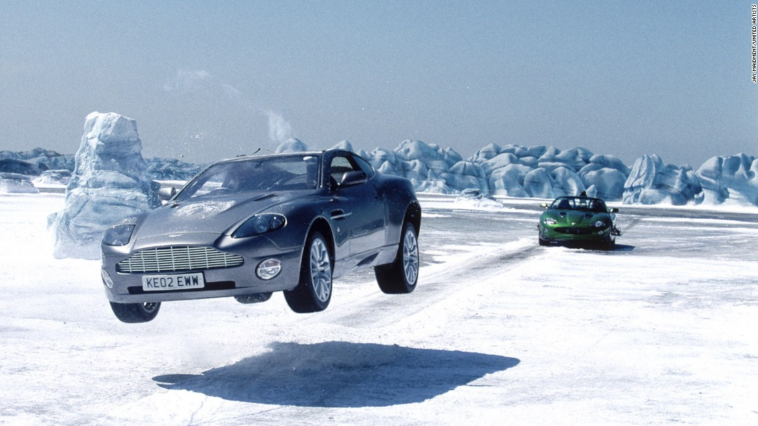 """James Bond's Aston Martin Vanquish in """"Die Another Day"""" could become practically invisible at the push of a button."""