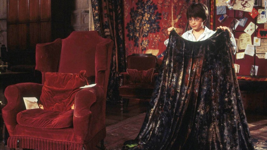 """Daniel Radcliffe as Harry Potter in """"Harry Potter and the Sorcerer's Stone"""" had an invisibility cloak."""
