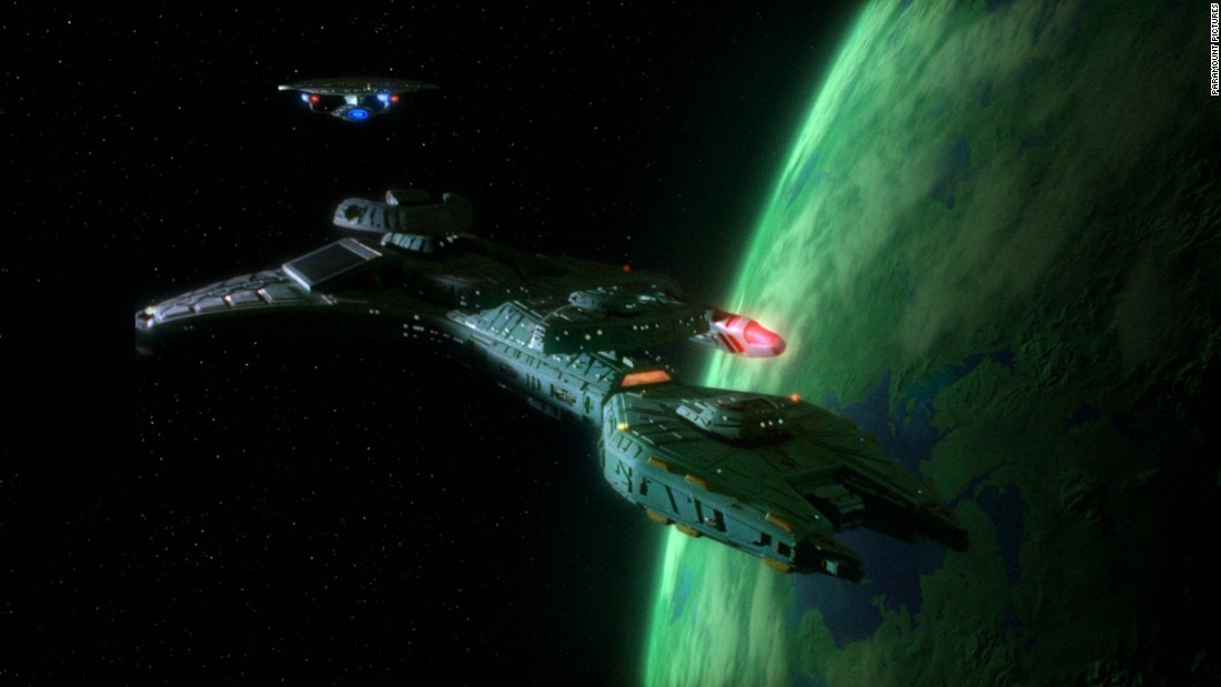 """In the """"Star Trek: The Next Generation"""" episode """"Redemption,"""" an invisibility cloaking device is used by a Klingon."""