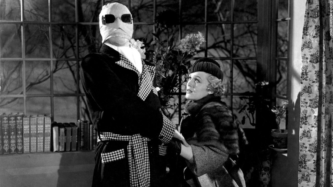 """Actor Claude Rains and actress Gloria Stuart in the 1933 film """"The Invisible Man,"""" in which a scientist finds a way to become invisible."""