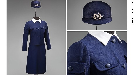 This winter suit for Air France was one of Cristobal Balenciaga's last works before closing his fashion house.