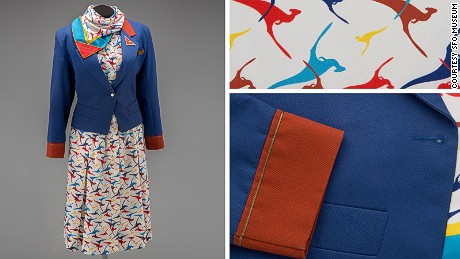 Yves Saint Laurent designed this jacket and dress combo with kangaroo print.