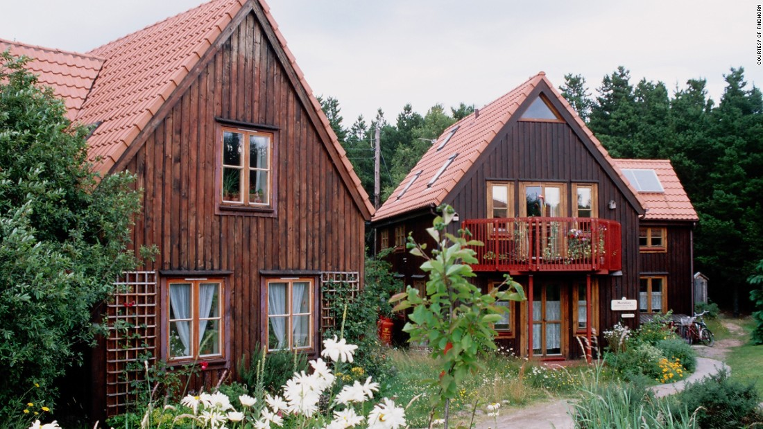 Once the site of a caravan park, the ecovillage is now the home for 500 permanent residents with houses of all shapes and sizes but with one common theme -- sustainabilty.