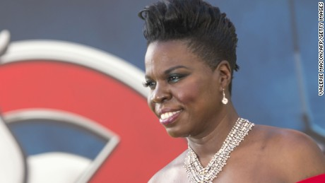 "Actress Leslie Jones attends the Los Angeles Premiere of ""Ghostbusters"" in Hollywood, California, on July 9, 2016."