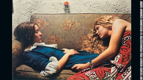 Untitled, 1974 (Karen Chatham, left, with the artist's cousin Lesa Aldridge, in Memphis, Tennessee) by William Eggleston, 1974 Wilson Centre for Photography ©Eggleston Artistic Trust