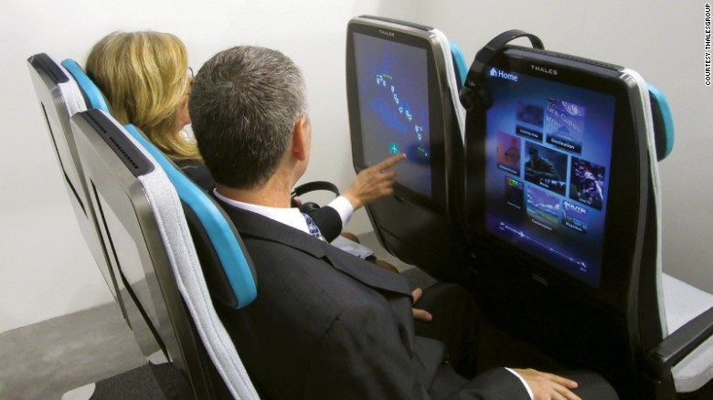 Thales and B/E's Digital Sky seats make use of larger, higher-res screens.