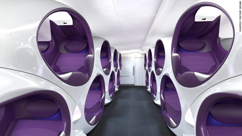 Factory Design's Air Lair concept offers passengers their own personalized cocoon.