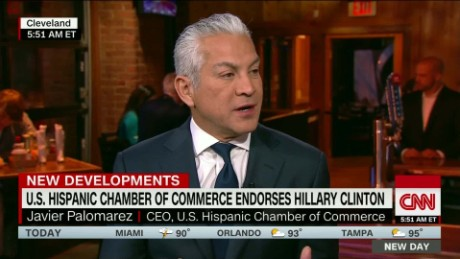 New Day Javier Palomarez on Hillary Clinton_00011406