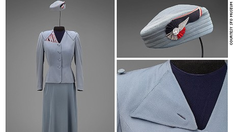 This look by Hollywood fashion designer Howard Greer featured TWA lettering on the shoulder.
