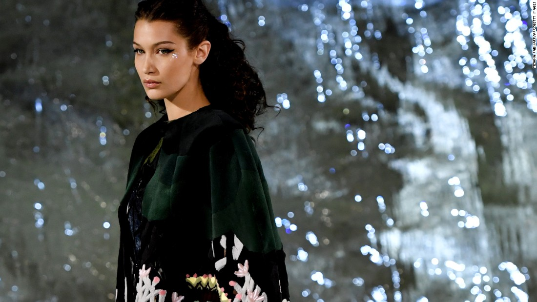 Model Bella Hadid closed the show. The looks on display were the result of hundreds of hours of craftsmanship by an army of artisans and couturiers.