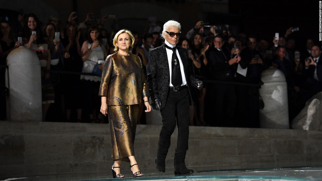 Karl Lagerfeld and Silvia Venturini Fendi have known each other since Silvia was a little girl. They are close creative collaborators at Fendi.