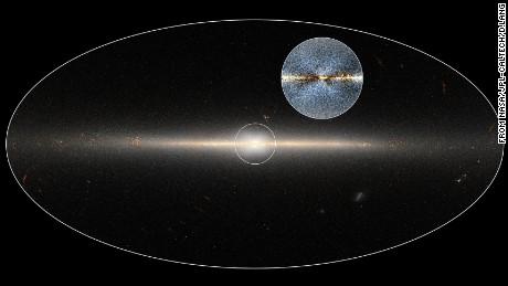 'X' shape in Milky Way confirmed via Twitter