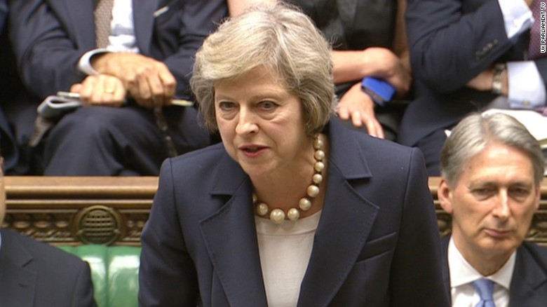 Theresa May faces her first Prime Minister's Questions