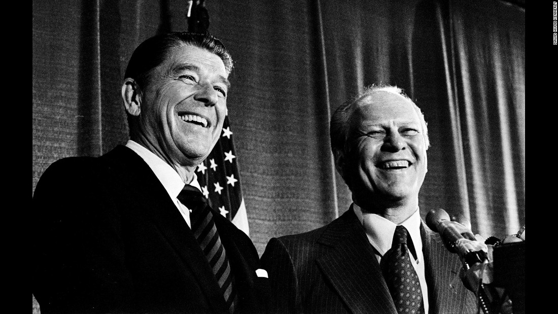"""What I saw behind the scenes was very tense and not very friendly, because Ford was really unhappy with Reagan,"" Kennerly recalled. ""At the press conference, the rest of the world sees smiling faces."""