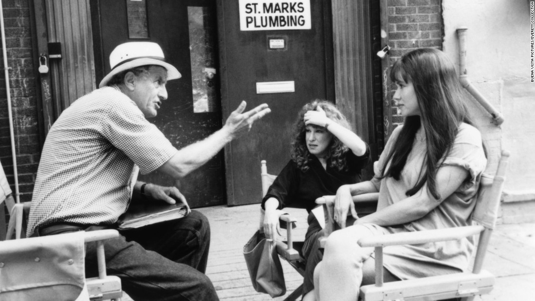 "Marshall talks with Bette Midler, center, and Barbara Hershey about the film ""Beaches"" in 1988."