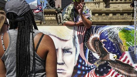 2016. Cleveland, Ohio. USA.  Public square outside the RNC.