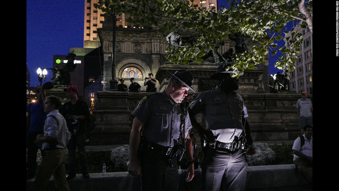 """Amnesty International USA said in a statement that their """"delegation noted a heavy police presence that sometimes outnumbered protesters."""""""