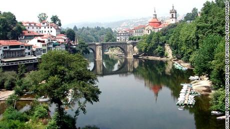 Amarante's stone bridge is said to have been built by Saint Goncalo de Amarante.