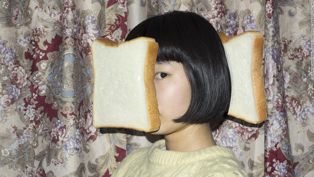 Sandwich, 2013 -- An excellent example of Miyazaki's eccentric personality, Sandwich is pretty self-explanatory. The artist says she didn't have a specific purpose when composing the piece -- she simply thought it would be amusing.