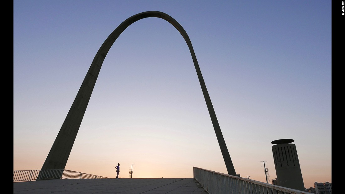 The ancient Lebanese port city of Tripoli is home to an unlikely futuristic fairground designed by Oscar Niemeyer, one of the founding fathers of modernist architecture.