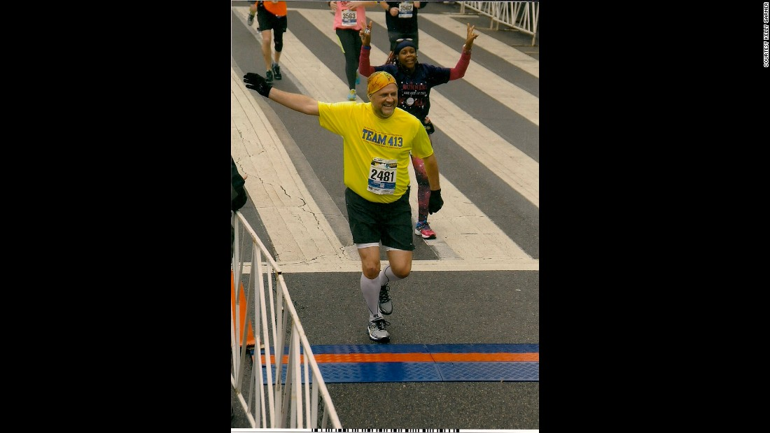 Inspired after seeing it on TV in the hospital, only 364 days after being released from the hospital, Garner completed the 2015 Mercedes Half Marathon.