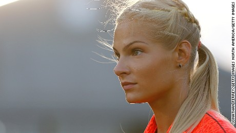 EUGENE, OR - MAY 29:  Darya Klishina of Russia warms up before the long jump during Day 1 of the IAAF Diamond League Prefontaine Classic at Hayward Field on May 29, 2015 in Eugene, Oregon.  (Photo by Jonathan Ferrey/Getty Images)