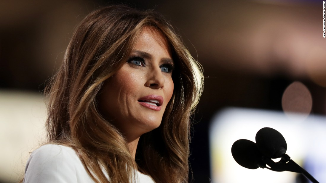 """Melania Trump, wife of presidential candidate Donald Trump, delivers a speech Monday, July 18, at the Republican National Convention. """"If you want someone to fight for you and your country, I can assure you, he's the guy,"""" she said of her husband. Afterward, it was revealed that passages of the speech had been taken from Michelle Obama's 2008 speech at the Democratic National Convention. A speechwriter identified herself as the person responsible for the plagiarism, and <a href=""""http://www.cnn.com/2016/07/20/politics/trump-aide-offers-resignation-in-melania-trump-plagiarism-incident/index.html"""" target=""""_blank"""">she offered her resignation. </a>The Trumps did not accept. """"She made a mistake ... we all make mistakes,"""" Donald Trump told ABC News."""
