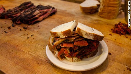 Mile End's smoked meat sandwich: Old school skills.