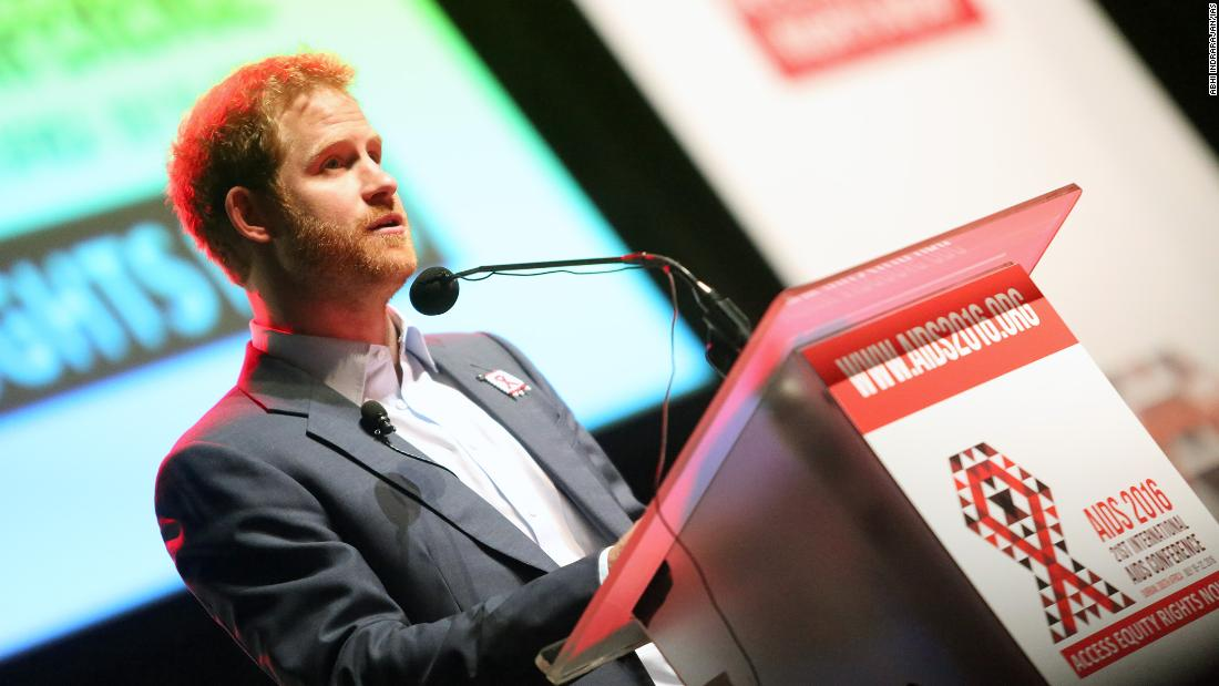 Prince Harry speaks at 21st International AIDS Conference (AIDS 2016), Durban, South Africa.