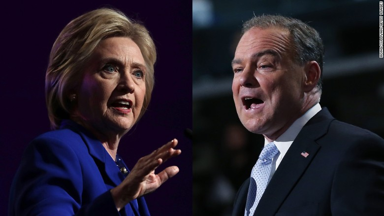 Clinton picks Kaine