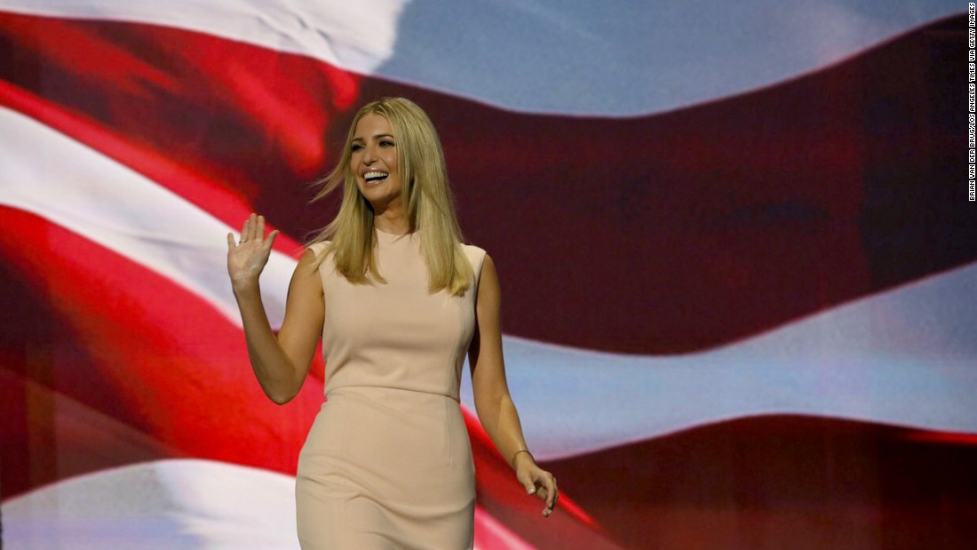 Trump's daughter Ivanka takes the stage Thursday before giving a speech introducing her father.