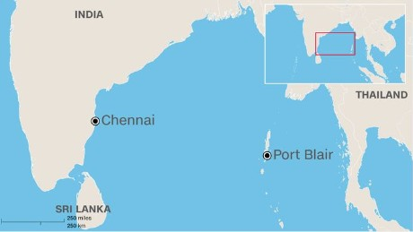 The missing Indian Air Force plane took off from Chennai, India, on the morning of Friday, July 22, 2016, and was scheduled to land at Port Blair.
