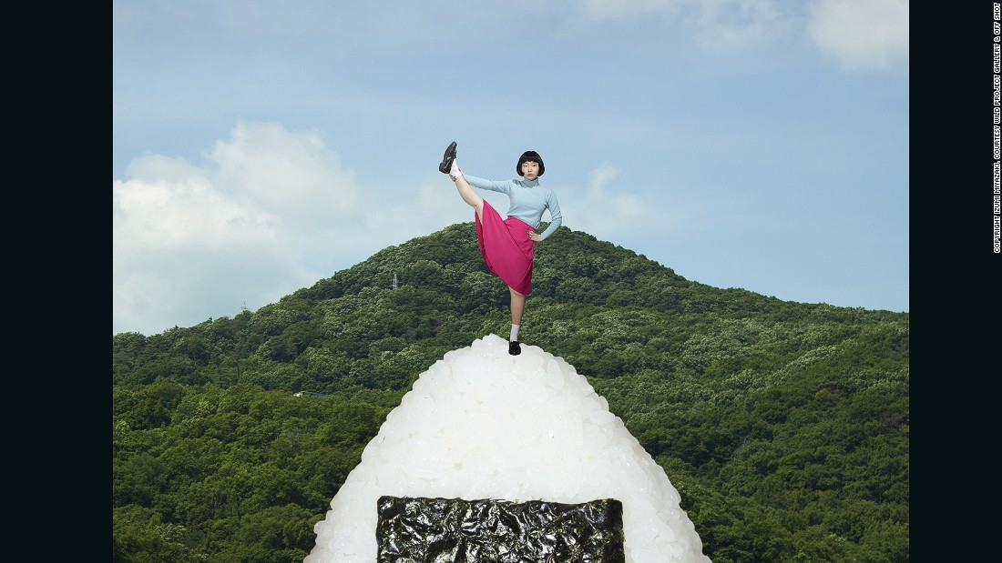 Rice Ball Mountain, 2016 -- An appreciation of the humble rice ball inspired this larger-than-life photograph. Miyazaki says that many of her images depict her favorite foods -- an unintentional reflection on growing up in Japan.