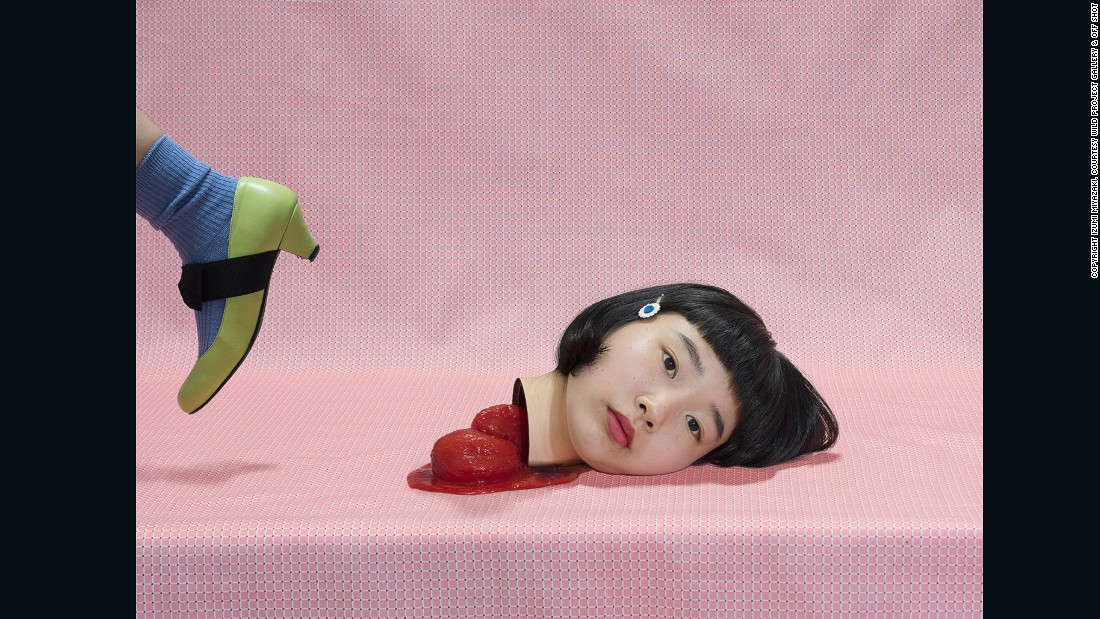 Tomato, 2015 -- A recent graduate of Musashino Art University, Japanese photographer Izumi Miyazaki learned how to harness lighting and Photoshop to achieve a cinematic affect. The 22-year-old says Tomato expresses a positive and comical attitude towards death.
