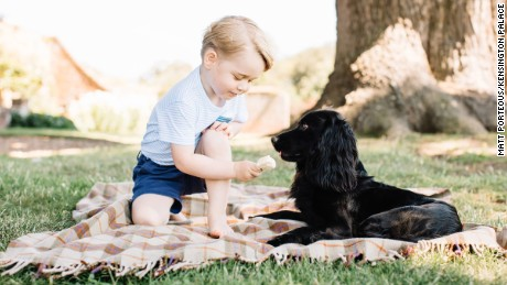 """The Duke and Duchess of Cambridge are delighted to share four new photographs of Prince George to mark his third birthday. They were taken by photographer Matt Porteous at their home in Norfolk in mid-July. A spokesman for Kensington Palace said: """"The Duke and Duchess hope that people will enjoy seeing these new photographs. They would like to thank everyone for all the lovely messages they have received as Prince George celebrates his third birthday. """"Photographer Matt Porteous said: """"I really enjoyed the opportunity to take these photographs of Prince George. It was a very relaxed and enjoyable atmosphere. I'm honoured that they have decided to share these images with the public to mark his third birthday."""""""