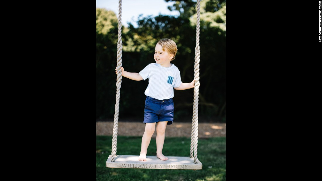 "A spokesman for Kensington Palace said: ""The Duke and Duchess hope that people will enjoy seeing these new photographs. They would like to thank everyone for all the lovely messages they have received as Prince George celebrates his third birthday."""