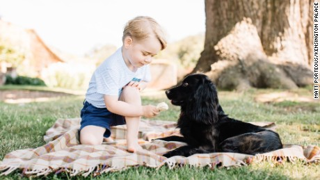 "The Duke and Duchess of Cambridge are delighted to share four new photographs of Prince George to mark his third birthday. They were taken by photographer Matt Porteous at their home in Norfolk in mid-July. A spokesman for Kensington Palace said: ""The Duke and Duchess hope that people will enjoy seeing these new photographs. They would like to thank everyone for all the lovely messages they have received as Prince George celebrates his third birthday. ""Photographer Matt Porteous said: ""I really enjoyed the opportunity to take these photographs of Prince George. It was a very relaxed and enjoyable atmosphere. I'm honoured that they have decided to share these images with the public to mark his third birthday."""
