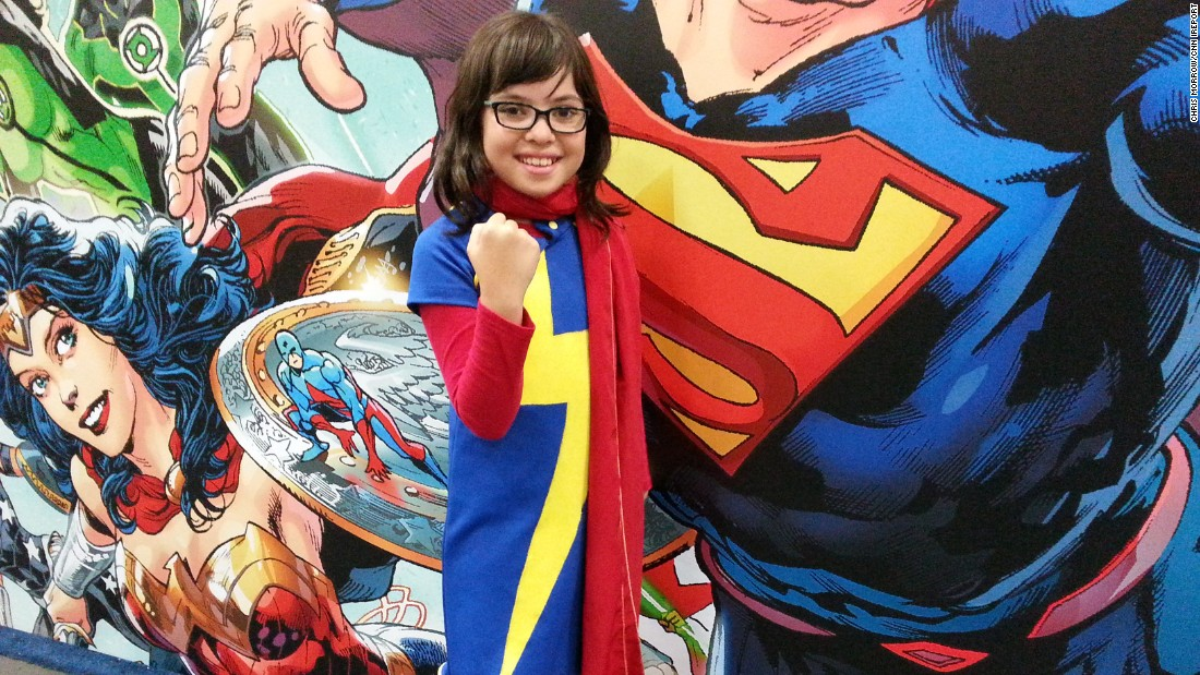 "Comic-Con, an annual convention for comics fans around the world, is taking place this week in San Diego. ""It's really fun to be a character,"" Marley, 10, said of transforming into Ms. Marvel, the protagonist of her favorite comic books."