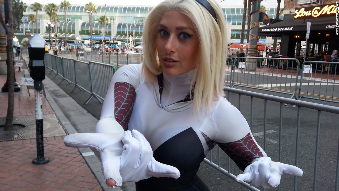 """Spider Gwen is funny, sarcastic, a strong role model and accessible to adults,"" Kaylynu Wolfe, 25, said of her Comic-Con character."