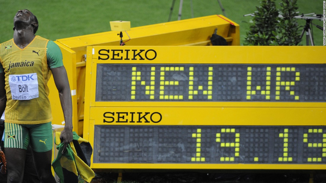Days later at the same competition, Bolt won the 200m final and set another world record in the process, running 19.19s.