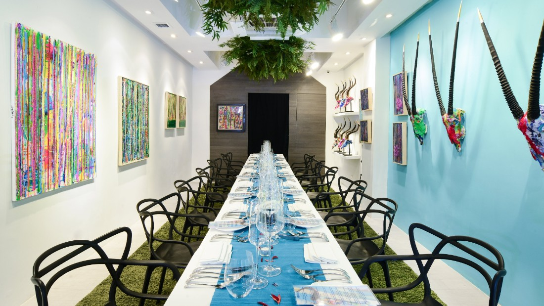 Each of the dishes on Popsy Room's eight-course tasting menu is paired with a specific piece of art on the gallery's walls. The exhibition -- thus the menu, too -- changes every third month.